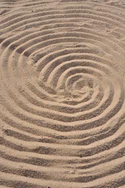 Spirale im Sand