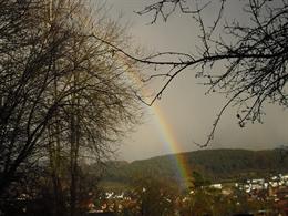 Regenbogen als Symbol der neuen Zeit